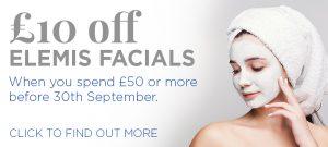£10 off Elemis Facials