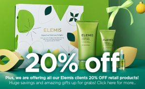 We are offering all our Elemis clients 20% OFF retail products